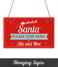 Personalised Christmas Hanging Signs