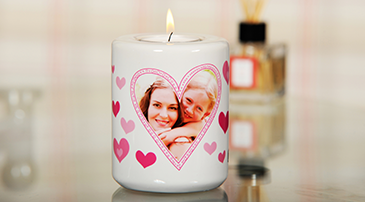 Photo Upload Candle Holders